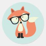 Fox rojo del inconformista lindo pegatinas
