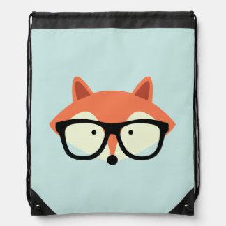Fox rojo del inconformista lindo mochila