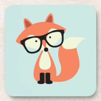 Fox rojo del inconformista lindo posavasos