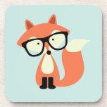 Fox rojo del inconformista lindo posavasos de bebida