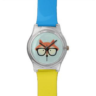 Fox rojo del inconformista lindo reloj de mano