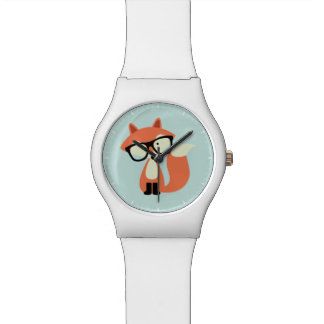 Fox rojo del inconformista lindo relojes de pulsera