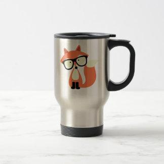 Fox rojo del inconformista lindo taza térmica