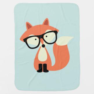 Fox rojo del inconformista lindo mantitas para bebé