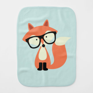Fox rojo del inconformista lindo paños para bebé
