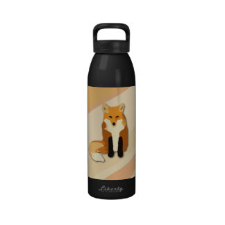 Fox rojo del naranja botallas de agua