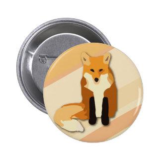 Fox rojo del naranja pin redondo 5 cm