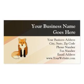 Fox rojo del naranja plantillas de tarjeta de negocio