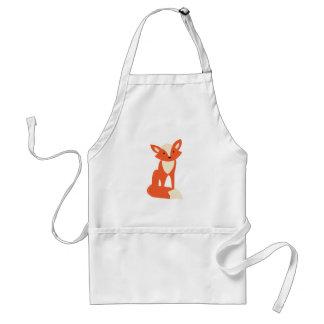 Fox rojo delantal