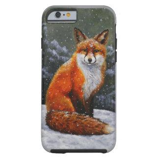 Fox rojo en nieve funda para iPhone 6 tough