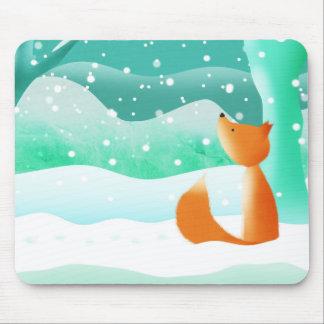 Fox rojo - estera del ratón alfombrillas de ratón
