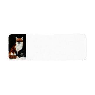 Fox rojo etiqueta de remite
