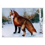 Fox rojo felicitacion