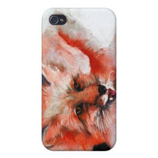 Fox rojo iPhone 4 fundas