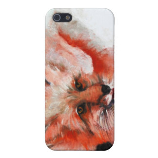 Fox rojo iPhone 5 cárcasas