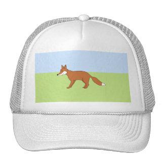 Fox. rojo gorros bordados