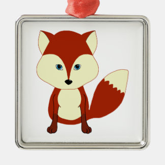 Fox rojo lindo adornos