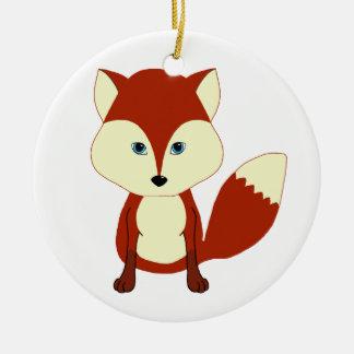 Fox rojo lindo adorno de reyes