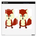Fox rojo lindo kindle fire pegatina skin