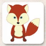 Fox rojo lindo posavasos de bebidas