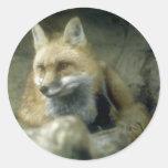 Fox rojo pegatina
