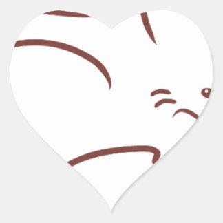 Fox rojo pegatinas de corazon