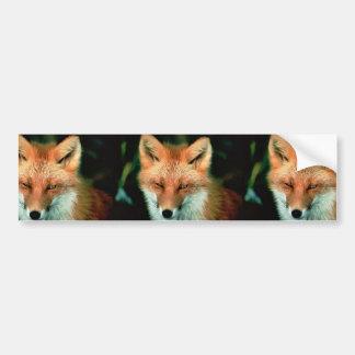 Fox rojo pegatina para auto