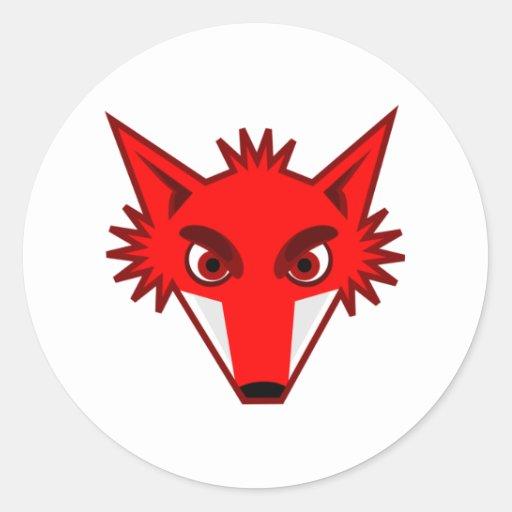 Fox rojo pegatinas redondas