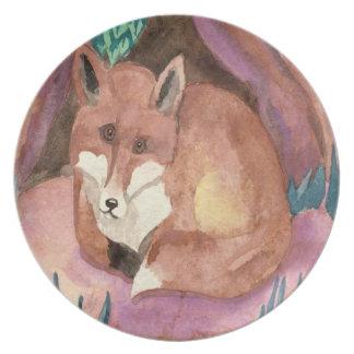 Fox rojo plato