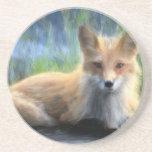 Fox rojo posavasos manualidades