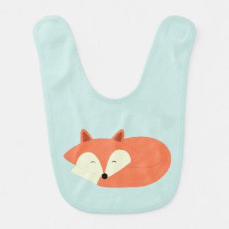 Fox rojo soñoliento babero de bebé