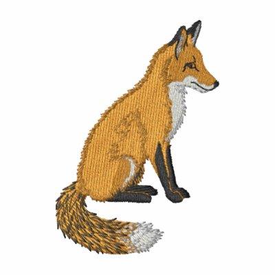 Fox rojo sudadera bordada con capucha