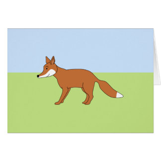 Fox. rojo tarjeta de felicitación