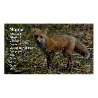Fox rojo tarjeta de visita