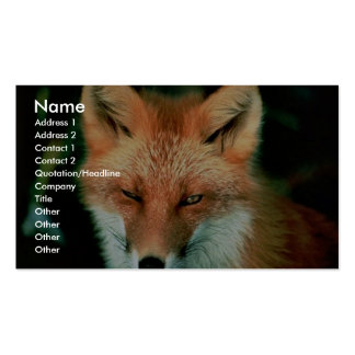 Fox rojo tarjetas personales