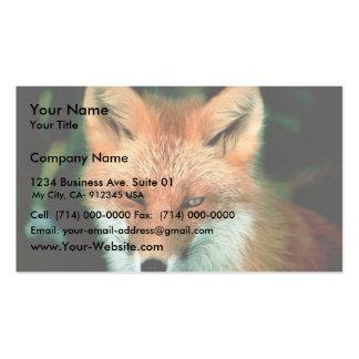 Fox rojo tarjetas de visita