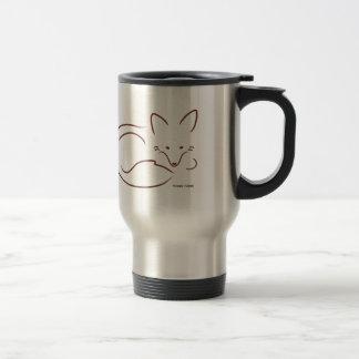 Fox rojo taza de viaje de acero inoxidable