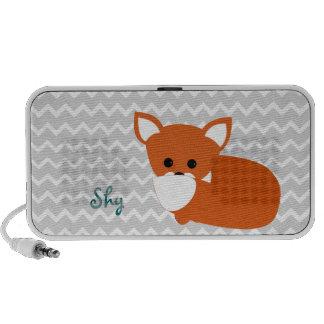 Fox rojo tímido notebook altavoces