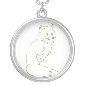 Fox Round Pendant Necklace