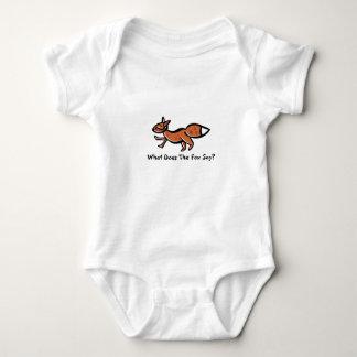 Fox Say (customizable) Baby Bodysuit