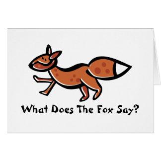 Fox Say (customizable) Card