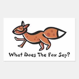 Fox Say (Customizable) Rectangular Sticker