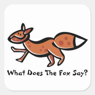 Fox Say (Customizable) Square Sticker