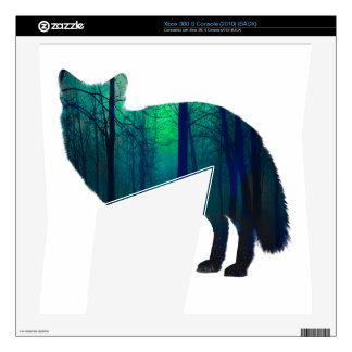 Fox silhouette - forest fox - fox art - wildfox decal for the xbox 360 s