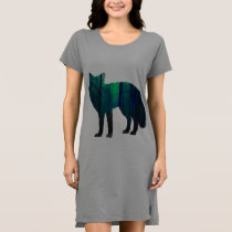 Fox silhouette - forest fox - fox art - wildfox dress