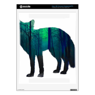 Fox silhouette - forest fox - fox art - wildfox xbox 360 decals