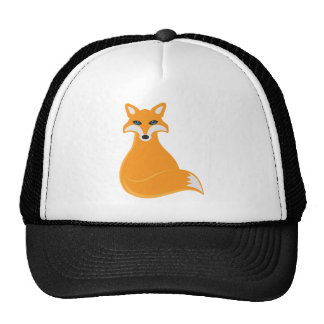 Fox Sitting Illustration Trucker Hat