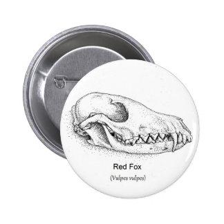 Fox Skull Button