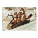 Fox Sleigh Ride Vintage Print Case For The iPad Mini