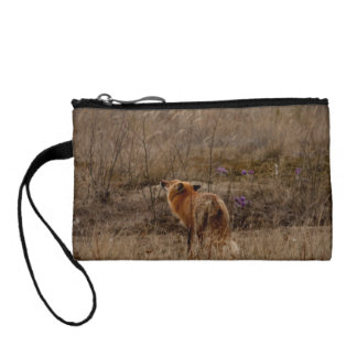 Fox Sniffing the Crocuses Coin Purse